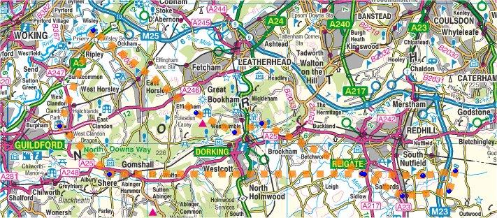 Map-Surrey